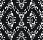 Damask (Victorian) seamless black texture royalty free stock photos