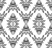Damask (Victorian) seamless pattern. Vector illustration Stock Photography