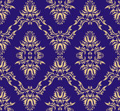 Damask (Victorian) seamless pattern. Vector illustration Royalty Free Stock Image