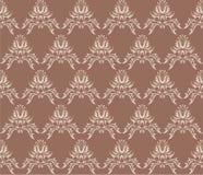 Damask (Victorian) seamless pattern Royalty Free Stock Image
