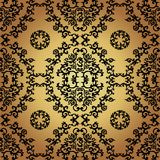 Damask Vintage Floral Seamless Pattern Background. Stock Image