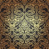 Damask Vintage Floral Seamless Pattern Background. Stock Photo