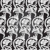 Damask Vintage Floral Seamless Pattern Background. Damask vintage floral seamless pattern background, vector illustration Stock Photo