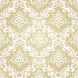 Damask Vintage Floral Seamless Pattern Background. Royalty Free Stock Photo