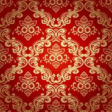 Damask Vintage Floral Seamless Pattern Background. Royalty Free Stock Photography