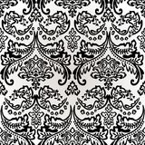 Damask Vintage Floral Seamless Pattern Background. Damask vintage floral seamless pattern background, vector illustration Royalty Free Stock Images
