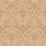 Damask Vintage Floral Seamless Pattern Background. Damask vintage floral seamless pattern background, vector illustration Stock Image