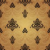 Damask Vintage Floral Seamless Pattern Background. Damask vintage floral seamless pattern background, vector illustration Royalty Free Stock Photos