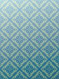 Damask wallpaper blue Royalty Free Stock Photos