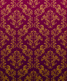 DAMASK Wallpaper Burdeos. Seamless Damask Wallpaper Pattern. Bourdeaux and Gold colors Royalty Free Stock Images