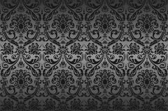 Damask wallpaper. Executed in a vector Royalty Free Stock Photo