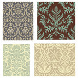 Damask Wallpaper Pattern Set Royalty Free Stock Image