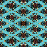Damask wallpaper  seamless pattern vector Royalty Free Stock Photography