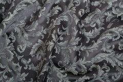 Damask, wavy black pattern background Royalty Free Stock Image