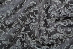 Damask, wavy black tapestry texture background Stock Photography