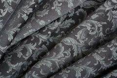 Damask, wavy black tapestry texture background Stock Images