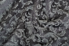 Damask, wavy black texture background Stock Photography
