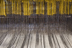 Damask weaving machine Stock Photos
