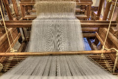 Damask weaving machine Stock Images
