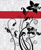 Damask wedding card Stock Photography