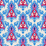 Damask Winter  seamless pattern vector Royalty Free Stock Images