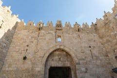 Damaskus-Tor in der alten Stadt von Jerusalem, Israel stockfotografie