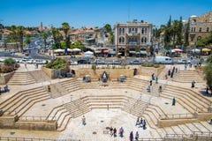Damaskus-Tor in Jerusalem Stockbild