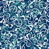 Damassé bleue Image stock