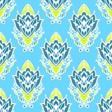 Damast-Blumenvektor-nahtloses Muster Lizenzfreies Stockfoto