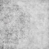 DAMAST-Einklebebuchhintergrund der Grungy Weinlese Blumen Stockfotos