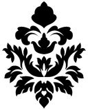 Damast emblem Arkivbild