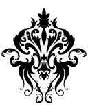 Damast emblem Fotografering för Bildbyråer
