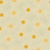 Damast-Löwenzahn-orange nahtloser Muster-Vektor Lizenzfreie Stockbilder
