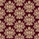 Damast naadloos patroon als achtergrond Stock Foto