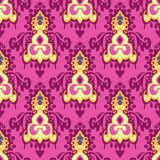 Damast naadloos roze   patroon Stock Fotografie