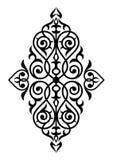 Damast naadloos wit en zwart ornament Stock Afbeelding