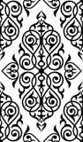 Damast naadloos wit en zwart ornament Royalty-vrije Stock Afbeelding