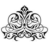 Damast naadloos wit, geel en zwart ornament Royalty-vrije Stock Afbeelding