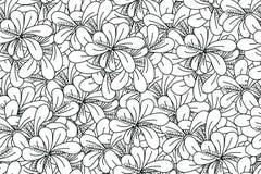 Damast-nahtlose Muster-Blätter Stockbild