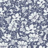 Damast-nahtloser Blumen-Muster-Vektor Lizenzfreie Stockbilder