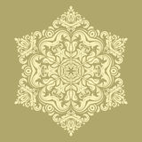 Damast Orient modell Arkivbild