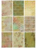 damastast blom- arktappning för collage Arkivfoton
