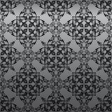 damastast gotisk seamless wallpaper Arkivbild
