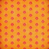 damastast grungeorangewallpaper Arkivbild