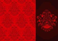 damastast modellvektor royaltyfri illustrationer