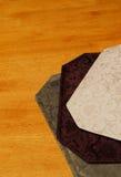 damastast placemats Royaltyfri Foto