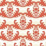 damastast röd wallpaper Royaltyfri Illustrationer