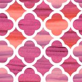 Damastvektor-Muster marocco maserte rosa elegantes stock abbildung