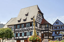 Dambach (Alsace) - Houses Stock Photography