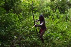Dambana, Sri Lanka, 12 November, 2015: Inheemse schutterstrijder Stock Afbeelding